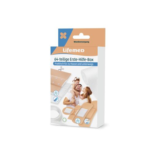 Lifemed® 64 teilige Erste-Hilfe-Box