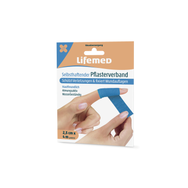 Lifemed® Selbsthaftender Pflasterverband, 4 m x 2,5 cm