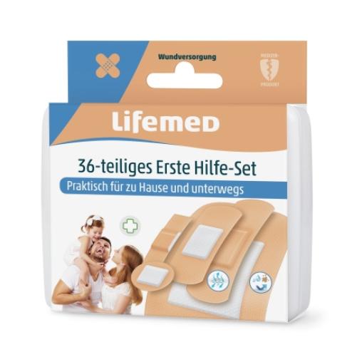 Lifemed® 36 teiliges Erste-Hilfe-Set hautfarben 5 Größen