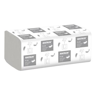 KATRIN Plus ZZ 2 Handtuchpapier Aktionsset 3 für 2 1 Aktionsset = 3 Kartons = 60 Packungen á 200 Blatt = 12000 Blatt