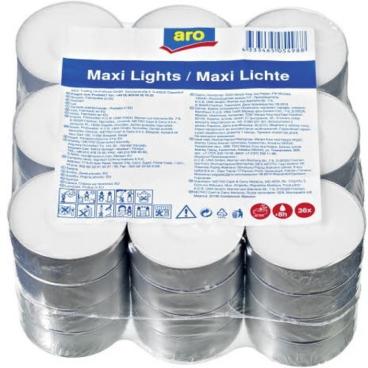 Aro Maxi Lichter, weiß, 57 mm 1 Packung = 36 Stück