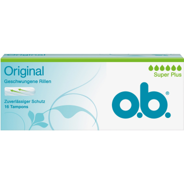 o.b. Tampons Super Plus 1 Packung = 16 Stück