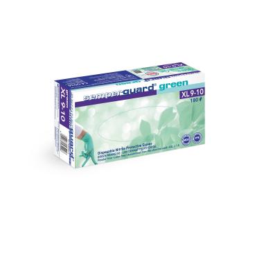 Semperguard® green Einmalhandschuhe, Nitril, grün, Großpackung