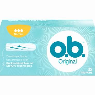 o.b. Tampons normal 1 Packung = 32 Stück