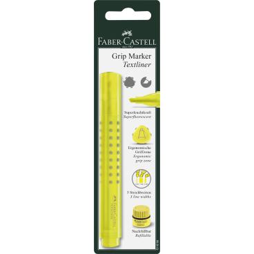 Faber-Castell Grip Maker Textmarker, gelb