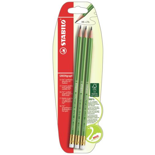 STABILO® GREENgraph Bleistift mit Radierer