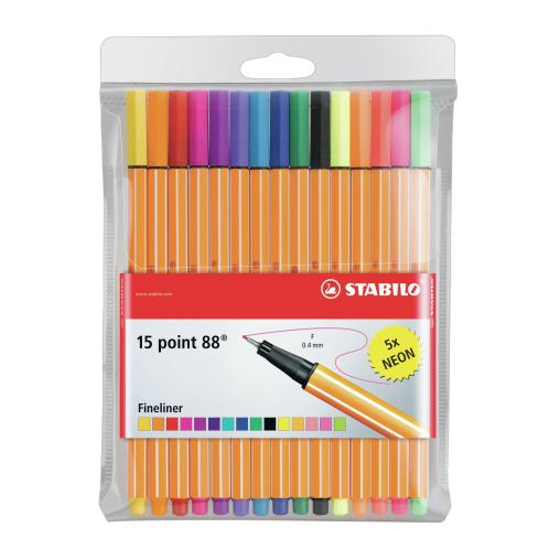 STABILO® point 88 Tintenfeinschreiber, inkl. Neonfarben