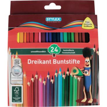 STYLEX® Dreikant Buntstifte, holzfrei