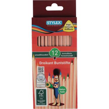 STYLEX® Buntstift, naturholz