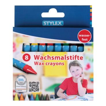 STYLEX® Wachsmalstifte mit Papierbanderole