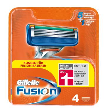 Gillette Fusion Rasierklingen 1 Packung = 4 Rasierklingen