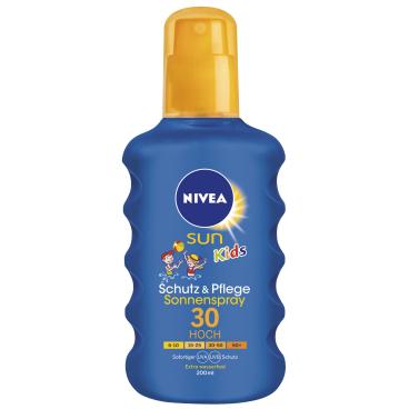 NIVEA® Sun Kids Schutz & Pflege Sonnenspray 200 ml - Flasche, LSF 30