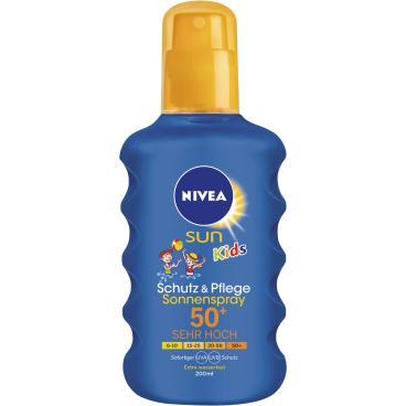 NIVEA® Sun Kids Schutz & Pflege Sonnenspray 200 ml - Flasche, LSF 50+