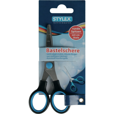 STYLEX® Bastelschere, mit cm Skala