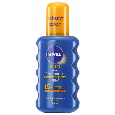 NIVEA® Sun Schutz & Pflege Sonnenspray 200 ml - Flasche, LSF 15
