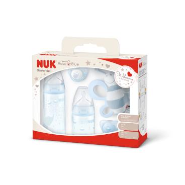 NUK Baby Rose Starter-Set, 5-teilig, blau