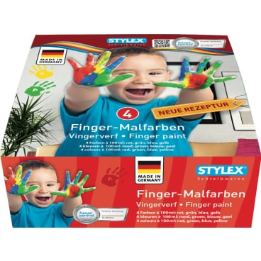 STYLEX® Fingermalfarben, 4 x 100 ml
