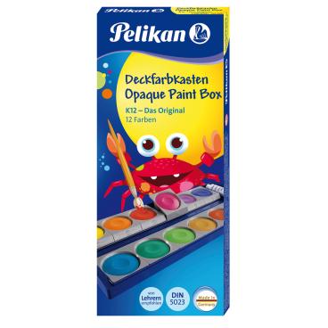 Pelikan K12 Deckfarbkasten, 12 Farben