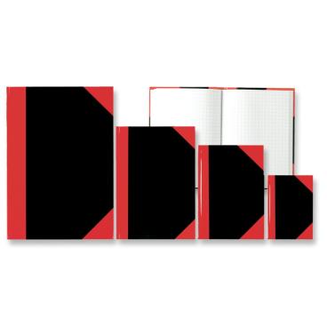 STYLEX® Kladde, schwarz/rot, kariert