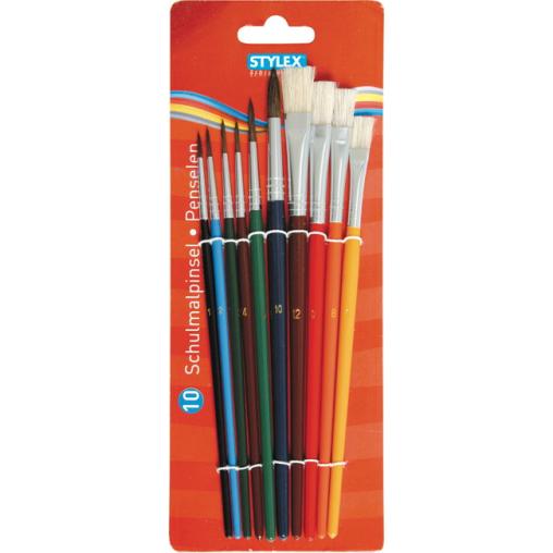 STYLEX® Schulmalpinsel-Set