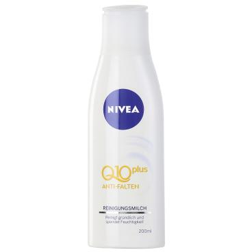 NIVEA® Face Anti-Falten Q10 PLUS Reinigungsmilch 200 ml - Flasche