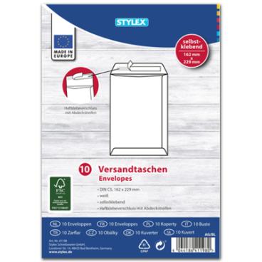 STYLEX® Versandtasche, DIN C5, weiß