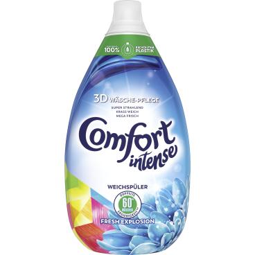 Comfort Intense Weichspüler 900 ml - Flasche für 60 Waschladungen, Fresh Explosion