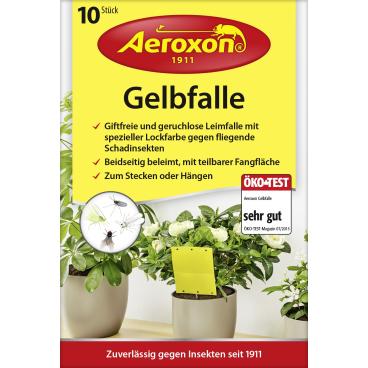 Aeroxon® Gelbfalle gegen fliegende Schadinsekten 1 Packung = 10 Stück