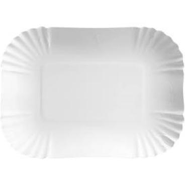 Pappteller, weiß, rechteckig aus Triplexkarton