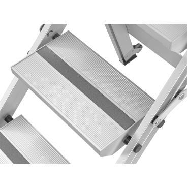 Hailo ST100 TopLine Alu-Sicherheitstreppe Arbeitshöhe: max. 285 cm, 5 Stufen