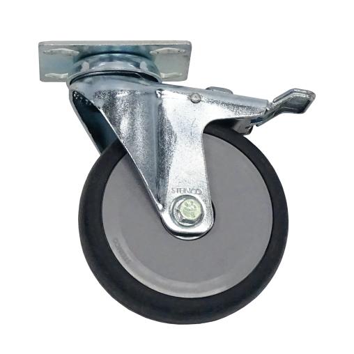 novocal Leichtlauf-Lenkrolle, mit Platte