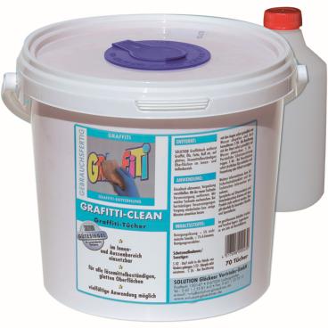 Solution Graffitituch im Eimer 1 Eimer = 70 Tücher (Format: 20 x 30 cm)