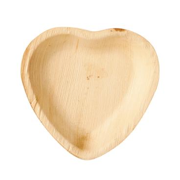 Papstar Pure Teller Palmblatt, Herz