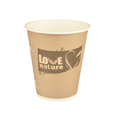 Papstar Pure Love Nature Trinkbecher, Pappe
