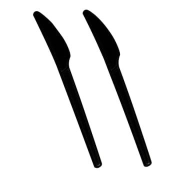 Papstar Pure Messer aus C-PLA, schwarz