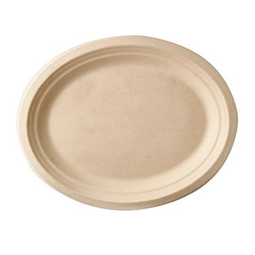 Papstar Pure Teller Zuckerrohr, oval