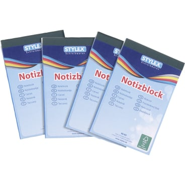 STYLEX® Notizblock, A7, 60 Blatt