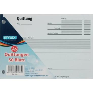 STYLEX® Quittung A6