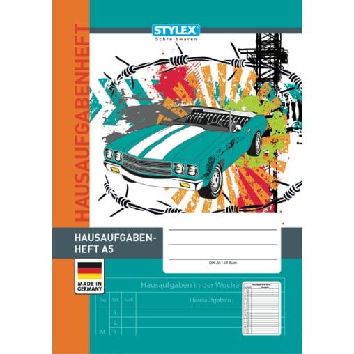 STYLEX® Hausaufgabenheft, A5, 48 Blatt