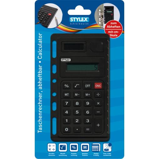 STYLEX® Taschenrechner, abheftbar