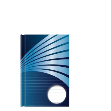 STYLEX® Kladde, liniert, blau