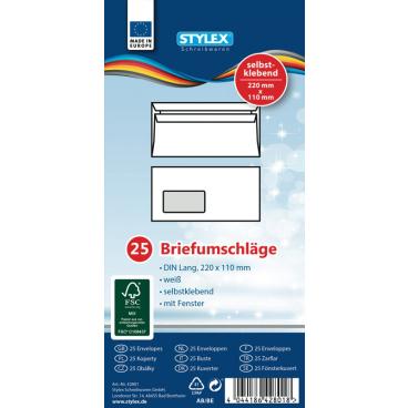 STYLEX® Briefumschlag, 220 x 110 mm