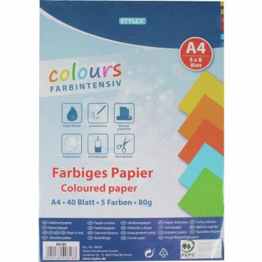 STYLEX® farbiges Kopierpapier DIN A4, 80 g/m²,
