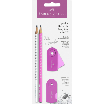 Faber-Castell Sparkle Bleistift Set, 3-teilig