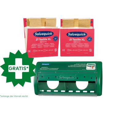 Cederroth Salvequick Textilpflaster XL + Pflasterspender