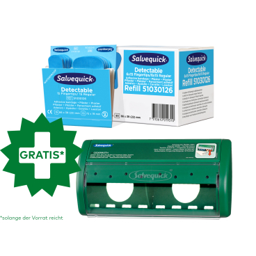Cederroth Salvequick Detectable Pflastermix + Pflasterspender