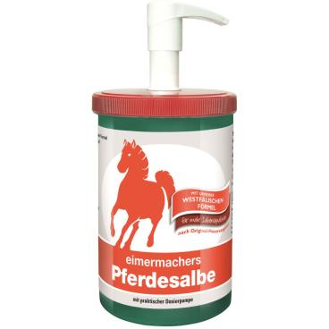 eimermachers Pferdesalbe 1000 ml - Dose mit Dosierspender