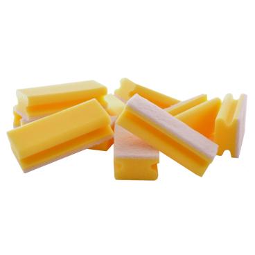 Floorstar Scheuerschwamm PADDY mit Griff, kratzfrei Farbe: gelb-weiß