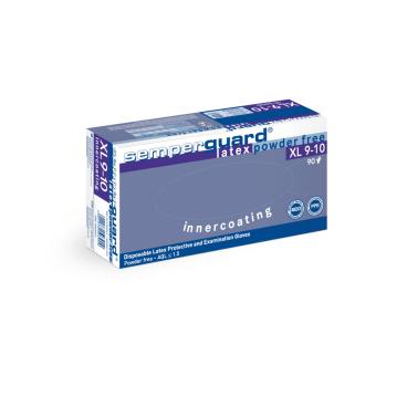 """Semperguard® Einmalhandschuhe, Latex """"Innercoated"""" 1 Palette = 56700 Stück, Größe XL, weiß"""