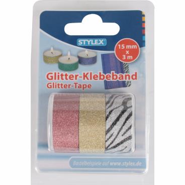 STYLEX® Glitter Klebeband, 15 mm x 3 m